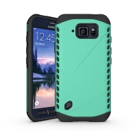 Hybrid Combo Aegis Armor Case Cover for Samsung Galaxy S6 Active SM-G890 (Green)