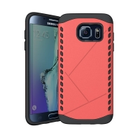 Hybrid Combo Aegis Armor Case Cover for Samsung Galaxy S6 edge+ Plus (Pink)