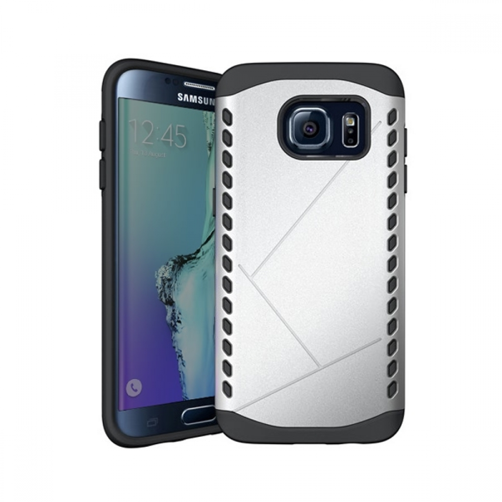 Hybrid Combo Aegis Armor Case Cover for Samsung Galaxy S6 edge+ Plus (Silver) :: PDair