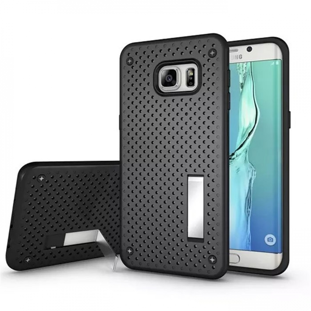 10% OFF + FREE SHIPPING, Buy Best PDair Premium Protective Samsung Galaxy S6 edge+ Plus Hybrid Shockproof Bumper with Stand (Black) online. You also can go to the customizer to create your own stylish leather case if looking for additional colors, pattern