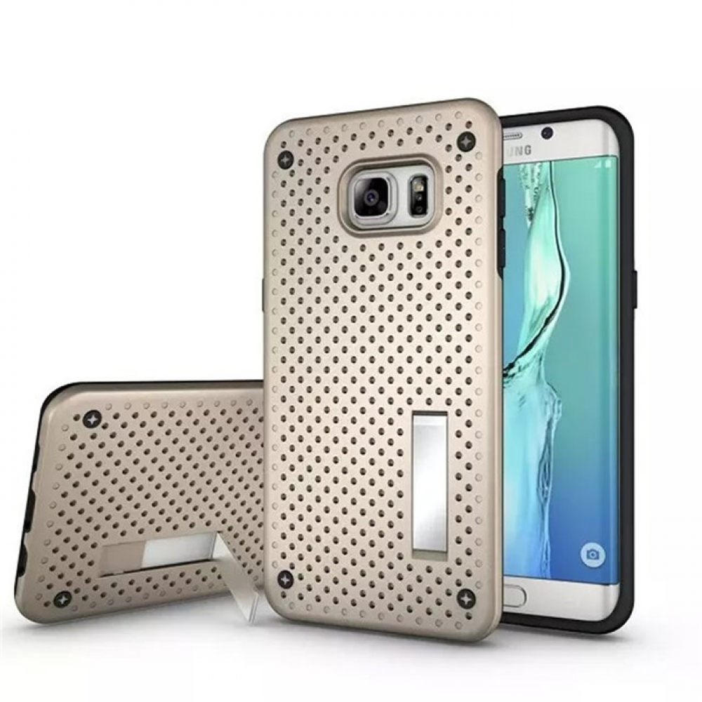10% OFF + FREE SHIPPING, Buy Best PDair Premium Protective Samsung Galaxy S6 edge+ Plus Hybrid Shockproof Bumper with Stand (Gold) online. You also can go to the customizer to create your own stylish leather case if looking for additional colors, patterns