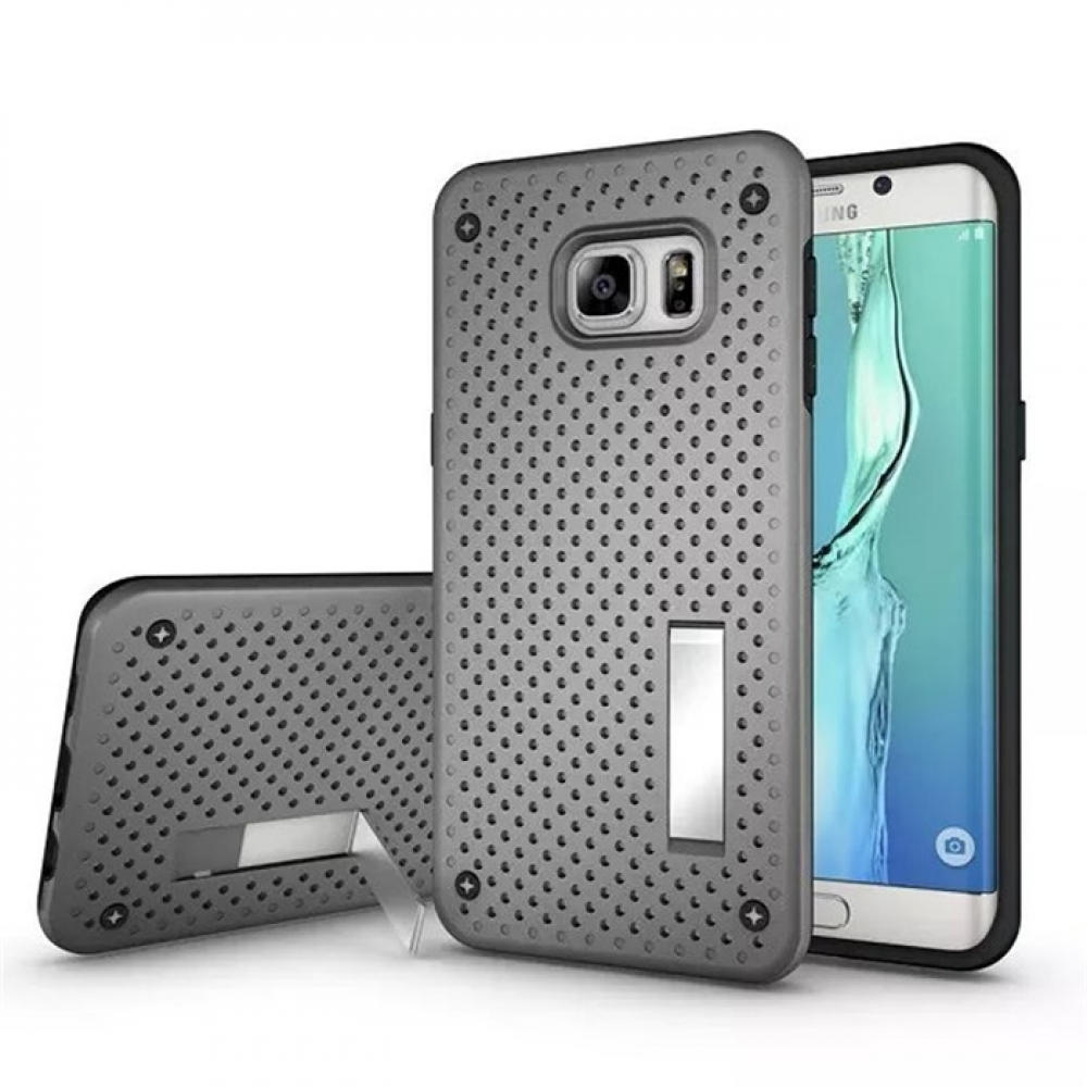 10% OFF + FREE SHIPPING, Buy Best PDair Premium Protective Samsung Galaxy S6 edge+ Plus Hybrid Shockproof Bumper with Stand (Grey) online. You also can go to the customizer to create your own stylish leather case if looking for additional colors, patterns