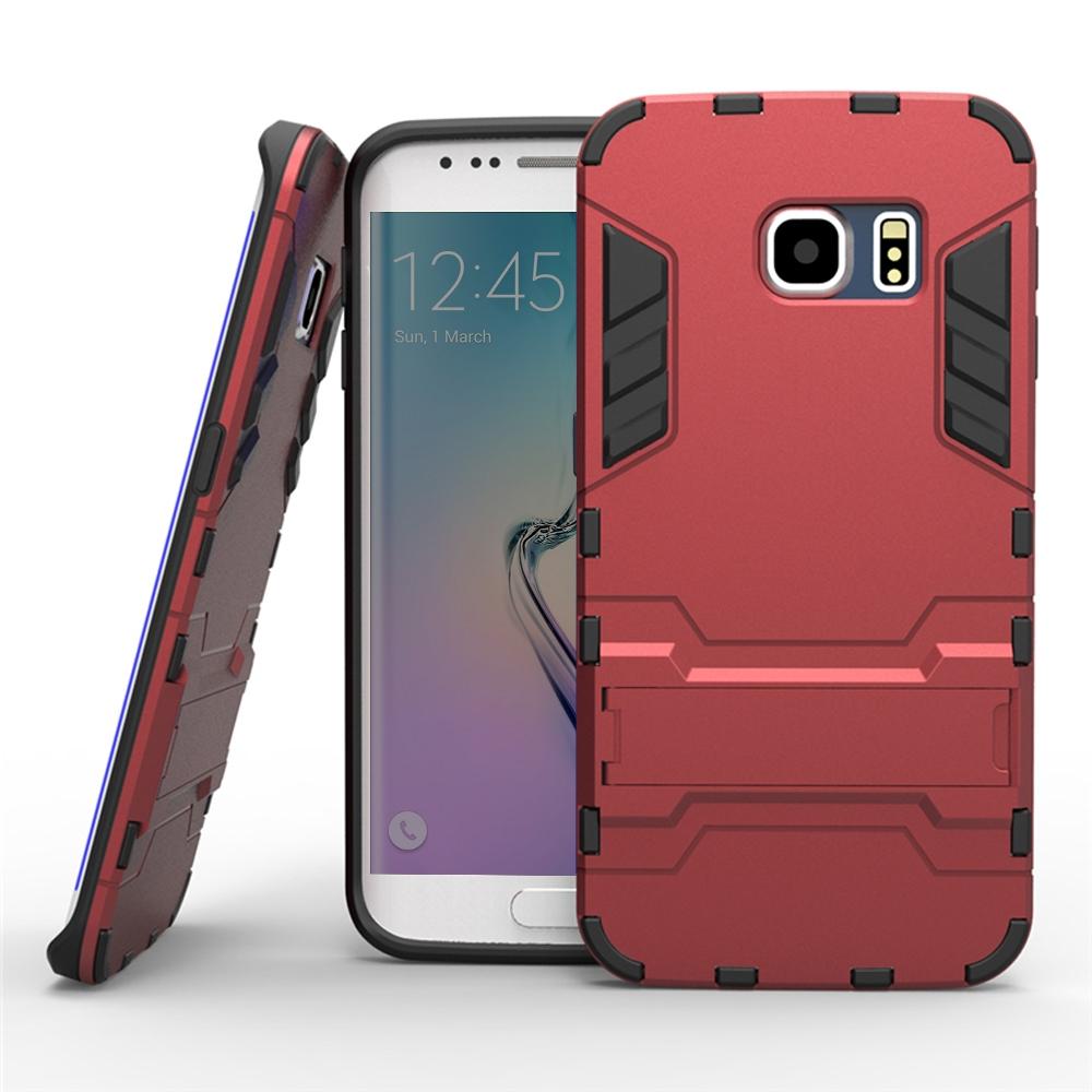 samsung galaxy s6 edge tough armor protective case (red) pdair