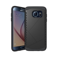 Hybrid Combo Aegis Armor Case Cover for Samsung Galaxy S6 (Black)