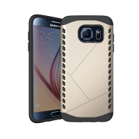 Hybrid Combo Aegis Armor Case Cover for Samsung Galaxy S6 (Gold)