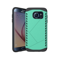 Hybrid Combo Aegis Armor Case Cover for Samsung Galaxy S6 (Green)