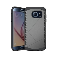 Hybrid Combo Aegis Armor Case Cover for Samsung Galaxy S6 (Grey)
