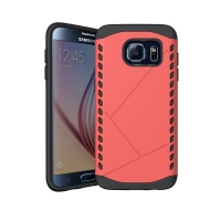 Hybrid Combo Aegis Armor Case Cover for Samsung Galaxy S6 (Pink)