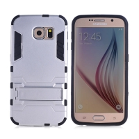 Samsung Galaxy S6 Tough Armor Protective Case (Silver)
