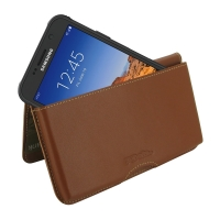Leather Wallet Pouch for Samsung Galaxy S7 active (Brown)