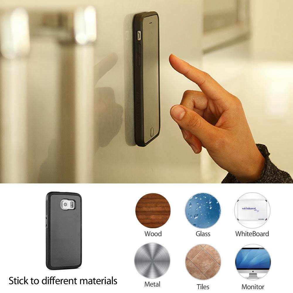 Samsung Galaxy S7 Anti-Gravity Silicone Case (Black) :: Pdair
