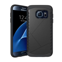 Hybrid Combo Aegis Armor Case Cover for Samsung Galaxy S7 edge (Black) :: PDair