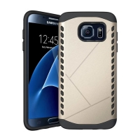 Hybrid Combo Aegis Armor Case Cover for Samsung Galaxy S7 edge (Gold) :: PDair