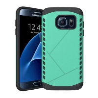 Hybrid Combo Aegis Armor Case Cover for Samsung Galaxy S7 edge (Green) :: PDair