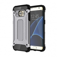Samsung Galaxy S7 edge Hybrid Dual Layer Tough Armor Case (Grey) PDair