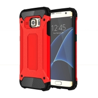 Samsung Galaxy S7 edge Hybrid Dual Layer Tough Armor Case (Red) PDair