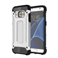 Samsung Galaxy S7 edge Hybrid Dual Layer Tough Armor Case (Silver) PDair