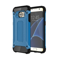 Hybrid Dual Layer Tough Armor Protective Case for Samsung Galaxy S7 edge (Skyblue)