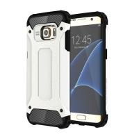 Hybrid Dual Layer Tough Armor Protective Case for Samsung Galaxy S7 edge (White)