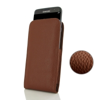 Samsung Galaxy S7 edge Leather Sleeve Pouch Case Brown Pebble Leather PDair Premium Hadmade Genuine Leather Protective Case Sleeve Wallet