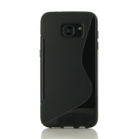 Soft Plastic Case for Samsung Galaxy S7 edge (Black S Shape pattern)
