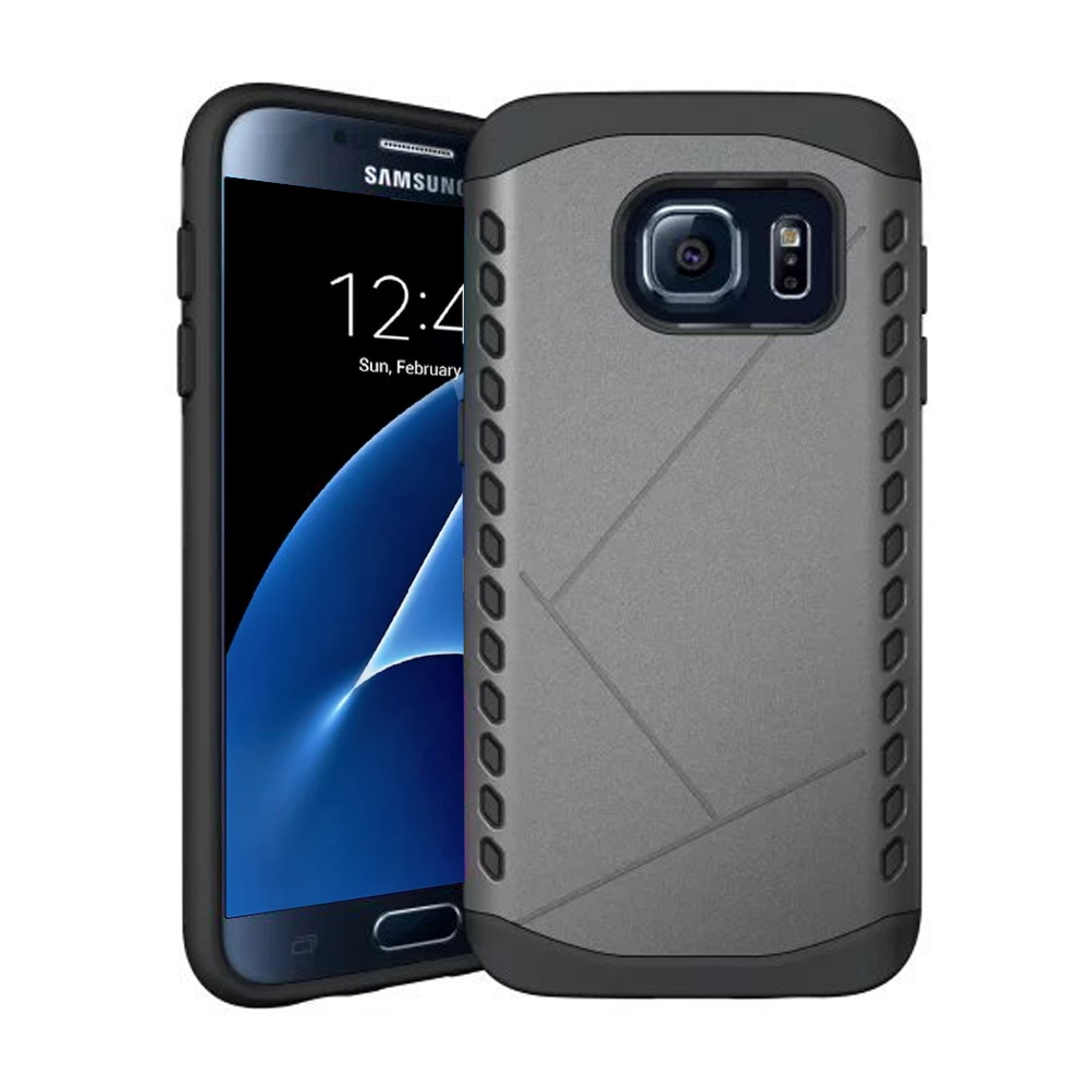 Hybrid Combo Aegis Armor Case Cover for Samsung Galaxy S7 (Grey) :: PDair