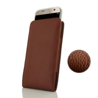 10% OFF + FREE SHIPPING, Buy Best PDair Handmade Protective Samsung Galaxy S7 (in Slim Cover) Pouch Case (Brown Pebble Genuine Leather) online. You also can go to the customizer to create your own stylish leather case if looking for additional colors, pat