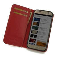 10% OFF + FREE SHIPPING, Buy Best PDair Quality Handmade Protective Samsung Galaxy S7 Genuine Leather Smart Flip Wallet Case (Red) online. You also can go to the customizer to create your own stylish leather case if looking for additional colors, patterns