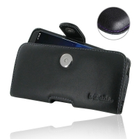 Leather Horizontal Pouch Case with Belt Clip for Samsung Galaxy S8 (in Slim Case/Cover) (Purple Stitch)