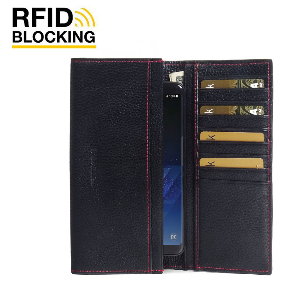 10% OFF + FREE SHIPPING, Buy Best PDair Handmade Protective Samsung Galaxy S8 Genuine Leather Continental Sleeve Wallet (Red Stitching)  You also can go to the customizer to create your own stylish leather case if looking for additional colors, patterns a