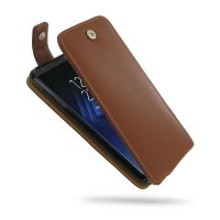 Leather Flip Top Wallet Case for Samsung Galaxy S8 (Brown)