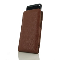 Leather Vertical Pouch Case for Samsung Galaxy S8 (Brown Pebble Leather)