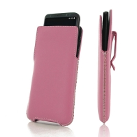 Luxury Leather Pouch Belt Clip Case for  Samsung Galaxy S8 (Petal Pink)