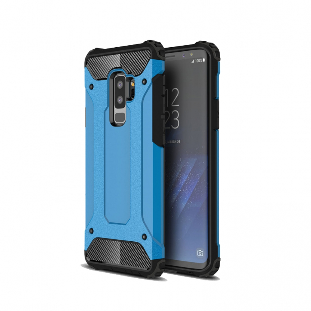 Hybrid Dual Layer Tough Armor Protective Case for Samsung Galaxy S9  (Skyblue)
