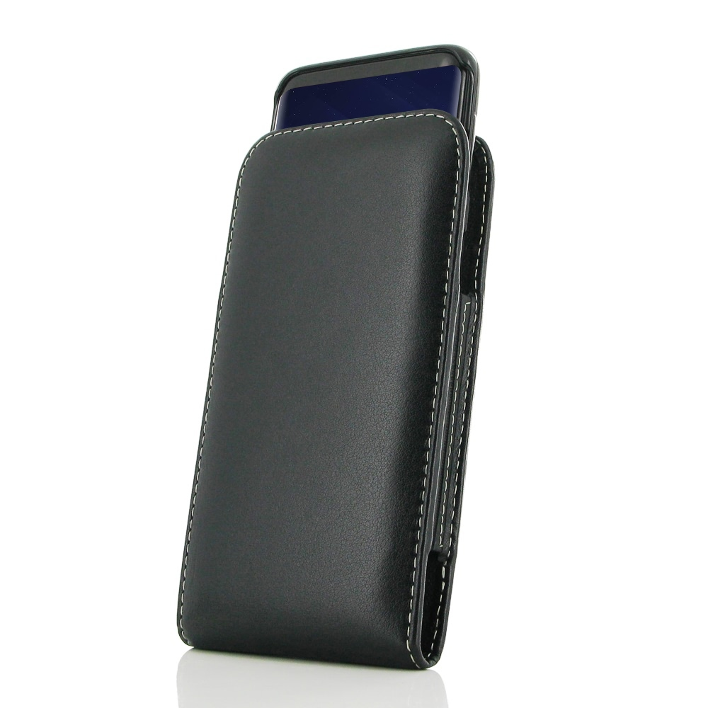 Leather Vertical Pouch Case for Samsung Galaxy S9 (in Slim Case/Cover)
