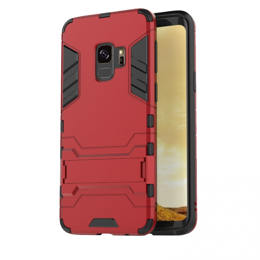 Samsung Galaxy S9 Plus | S9+ Tough Armor Protective Case (Red)