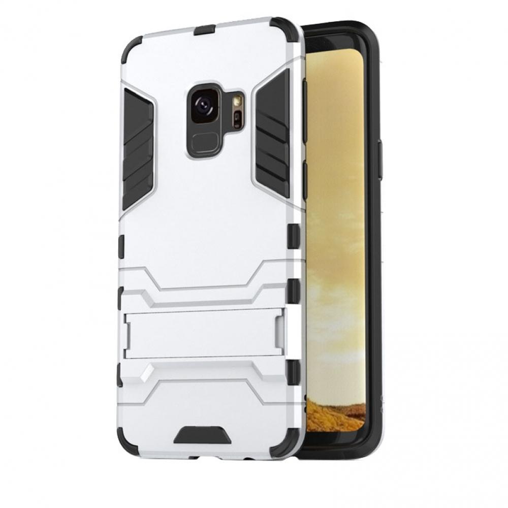 Samsung Galaxy S9 Plus | S9+ Tough Armor Protective Case (Silver)