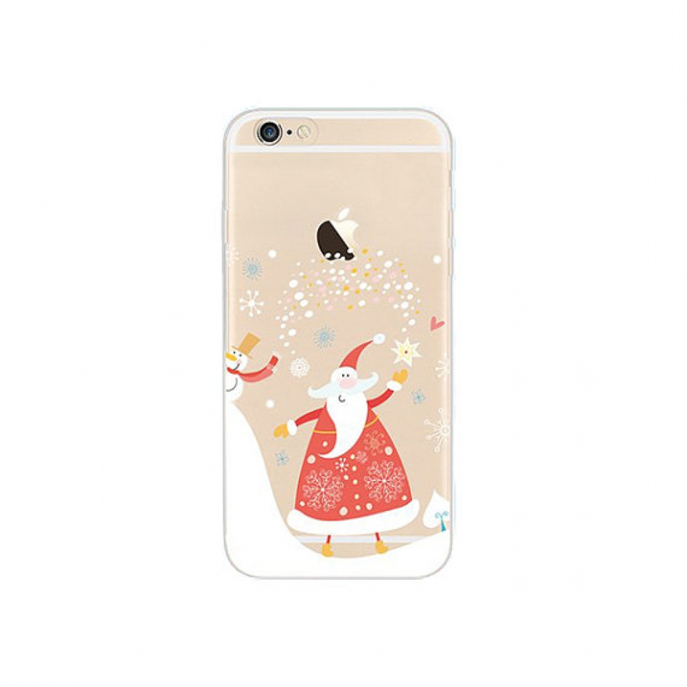 10% OFF + FREE SHIPPING, Buy PDair iPhone Soft Clear Case Santa Clause Snowman Merry Christmas which is available for iPhone 5 | iPhone 5s SE 6 6s, iPhone 6 Plus | iPhone 6s Plus. You also can go to the customizer to create your own stylish leather case i