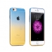 Gradient iPhone 6s 6 Plus SE 5s 5 Soft Clear Case (Blue to Yellow) protective carrying case by PDair