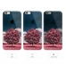 iPhone 6s 6 Plus SE 5s 5 Pattern Printed Soft Clear Case (Red Tree Scenery) protective carrying case by PDair