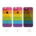 iPhone 6s 6 Plus SE 5s 5 Soft Clear Case (Colorful Rainbow Stripe) protective carrying case by PDair