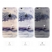 iPhone 6s 6 Plus SE 5s 5 Pattern Printed Soft Clear Case (Crane Tree Scenery) protective carrying case by PDair