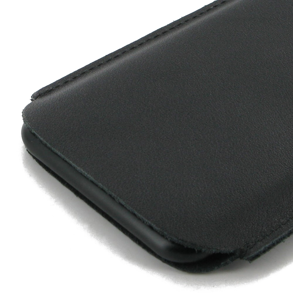 iphone 6 6s leather sleeve case black stitch pdair. Black Bedroom Furniture Sets. Home Design Ideas