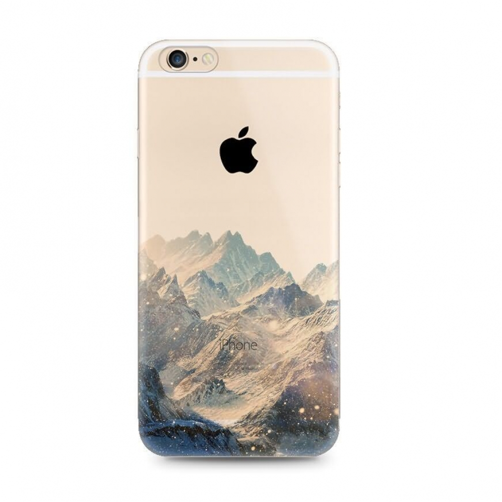10% OFF + FREE SHIPPING, Buy PDair Top Quality iPhone Soft Clear Case Snow Mountain Scenery which is available for iPhone 6 | iPhone 6s, iPhone 6 Plus | iPhone 6s Plus, iPhone 5 | iPhone 5s SE You also can go to the customizer to create your own stylish l
