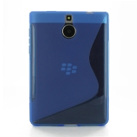 Soft Plastic Case for BlackBerry Passport Silver Edition (Blue S Shape pattern)