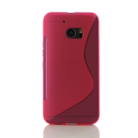 HTC 10 Soft Case (Pink S Shape pattern) PDair Premium Hadmade Genuine Leather Protective Case Sleeve Wallet
