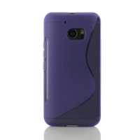 HTC 10 Soft Case (Purple S Shape pattern) PDair Premium Hadmade Genuine Leather Protective Case Sleeve Wallet