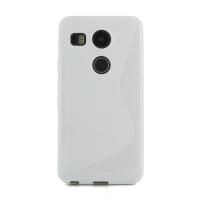 Soft Plastic Case for LG Google Nexus 5X (White S Shape pattern)