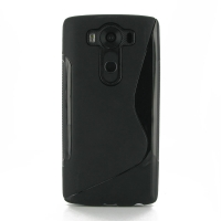 Soft Plastic Case for LG V10 (Black S Shape pattern)
