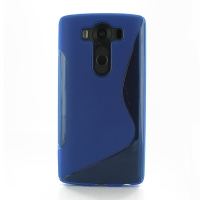 Soft Plastic Case for LG V10 (Blue S Shape pattern)